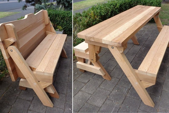 One piece folding bench and picnic table plans downloadable pdf one piece folding bench and picnic table plans downloadable pdf file from buildeazy on etsy studio watchthetrailerfo