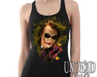 DC Comics Joker BOOM Batman Dark Knight  - Ladies Tank Top Singlet