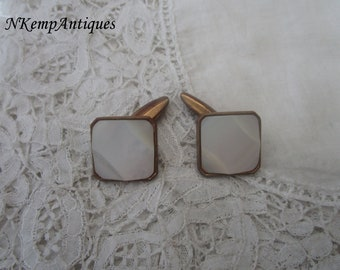 Vintage cufflinks Mother of pearl