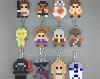 12 pcs Star Wars Party Favors Zipper Pulls, Magnets, or Pins | Star Wars Force Awakens | Star Wars Birthday Party | Classroom Party Gifts