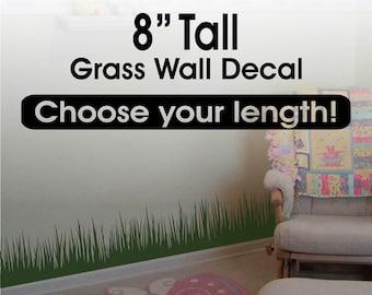 Grass Wall Decor / Grass Wall Decal border / Grass Border/ Playroom Decor / Kids Room Decor Removable vinyl wall border - nursery wall decor