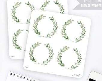 FW12 | Flower Wreath Sticker | Decorative Sticker | Planner Stickers | Bullet Journal Stickers