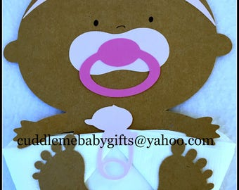 Baby Shower Baby Girl Baby Shower Decor African American Baby Shower Napkins with Bow Headband
