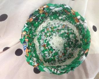 Green Plarn Basket - sturdy, practical, beautiful