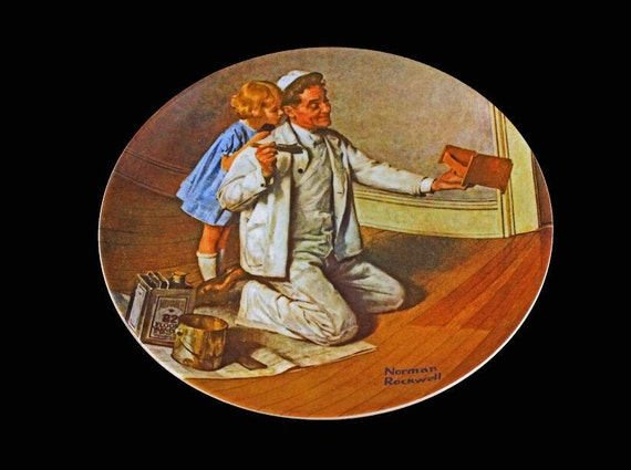 1983 Knowles Collector Plate, Norman Rockwell, The Painter, Limited Edition, Numbered Plate, Wall Decor, Decorative Plate