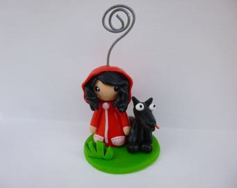Little Red Riding Hood Locket with polymer clay