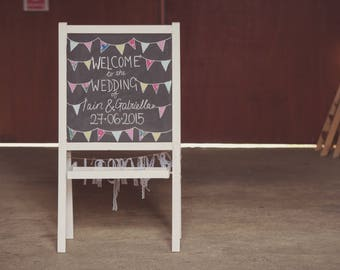 HIRE A Frame Blackboard - welcome sign, seating plan, chalkboard