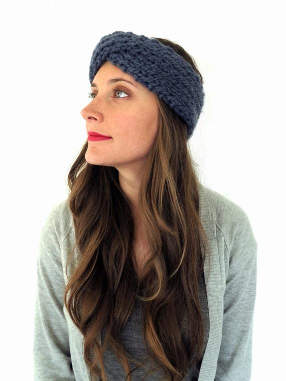 Pattern For Chunky Soft Knit Turban Headband Ear Warmer Kahina