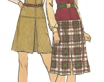 1970s Jumper Pattern Butterick Sewing Low Waist Front Zip Uncut Vintage Women's Misses  Size 14 Bust 36 Inches