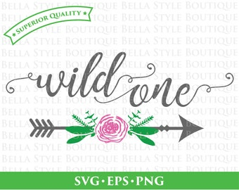 Wild One Baby Girl Nursery Arrow svg png eps cut file