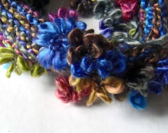 Knitted necklace.