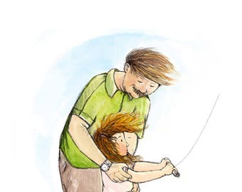 Let's Go Fly a Kite Father's Day Card!