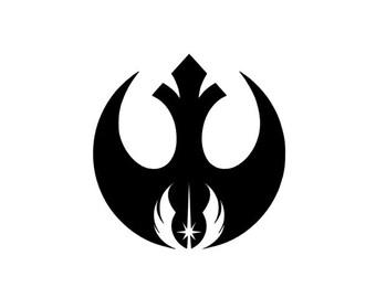 Jedi & Rebel Alliance Order Vinyl Car Decal, Star Wars, Empire, Death Star, ticker, Yoda, Darth Vader, Decal, Multiple Choices, Window Dec