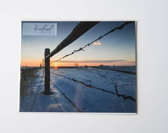 Sunrise Photography Prints Nature Art, Iowa Image Print, Show Pictures Gift, 8x10 Print Horizontal, Landscape Wall Art Prints Farmhouse