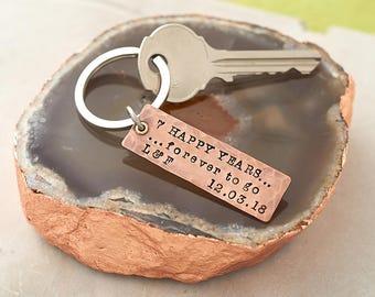 Copper keyring etsy
