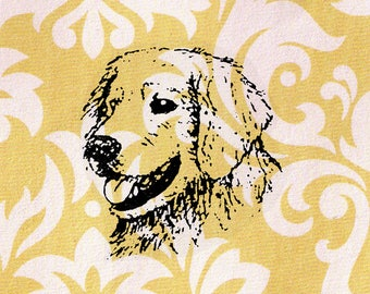 Dog Head Stamp: Wood Mounted Rubber Stamp