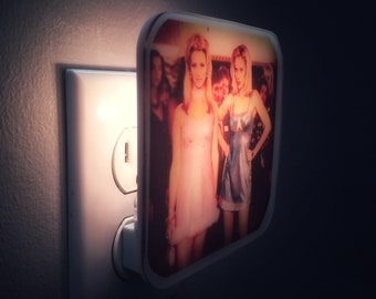 Romy and Michele Night Light, 80s,90s, 90s birthday, Plug in, Bridesmaid gift, Bachelorette party, 90s party, BFF, 90s decor, Girly