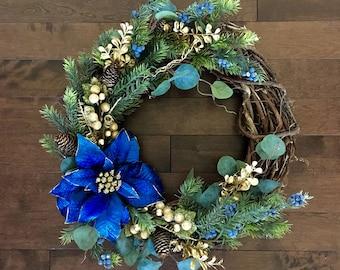 Winter Wreath, Winter Wreaths for Front Door, Holiday Wreath, Christmas Wreath, Christmas Decorations, Wreath Christmas