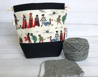 Small Yarn Bag/Project Bag for Knitting/drawstring Project Bag/Knitting Project Bag/Crochet Project Bag/Procession-Rifle Paper Company