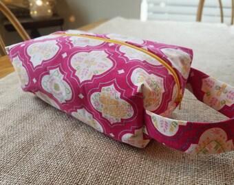 Pink Vintage Floral Large Ditty Bag