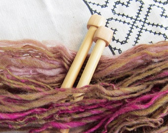 Deep Forest RockStar Handspun Yarn - 120+ yds, US Wool single ply, woolen