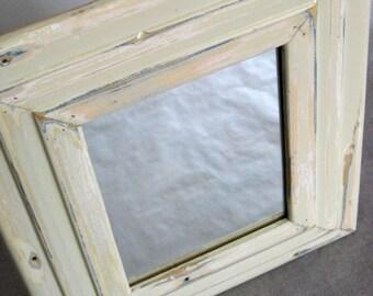 Reclaimed wood mirror by heidiBARKUNframes - De Cambrai Collection (deC16)