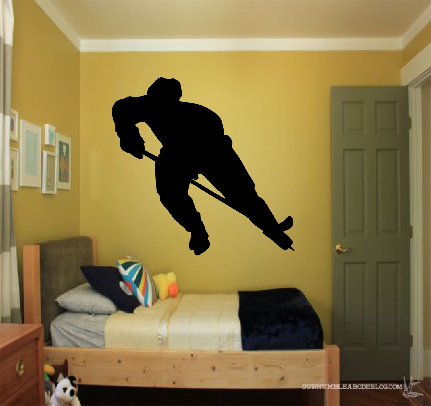 Hockey Player wall decal sports decals hockey wall decal