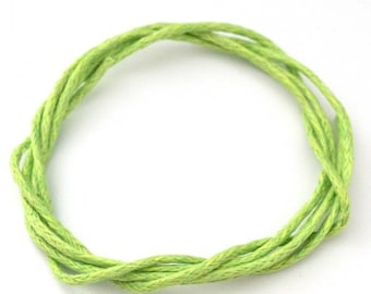 ♥ 5 meters of cotton lime green neon 1mm♥
