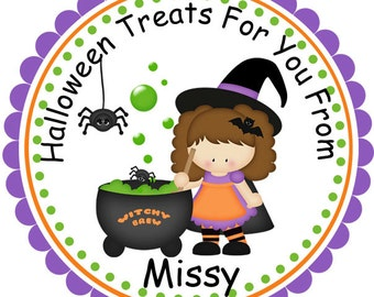 Halloween Witches Brew- Personalized Stickers, Party Favor Tags, Thank You Tags, Gift Tags