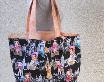 Tote bag, Reversible bag, Reusable bag, Betty Boop, Betty Boop bag, Shopping bag, Reusable shopping bag, Cotton bag, Handbag, Carry Bag