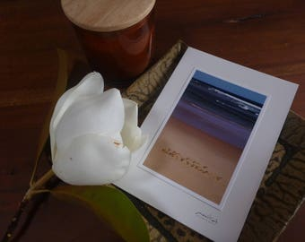 Happy Birthday at the Beach - Photographic Card