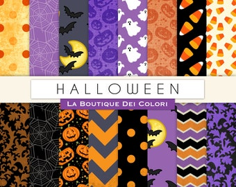 Halloween Digital paper Printable paper Halloween clipart Pack Instant Download for Personal and Commercial Use