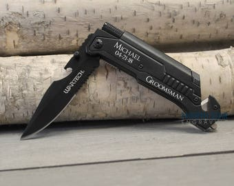 Groomsmen gift ideas, Groom to Groomsman gifts, Groomsman Proposal gifts, Tactical Knife, Wedding Party gifts, Father of the Bride, Best Man