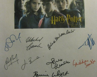 Harry Potter and the Half Blood Prince signed Film Movie Script Screenplay x17 Autographs Daniel Radcliffe Emma Watson Helen Bonham Carter