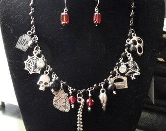 Graveyard Ghoulies necklace set