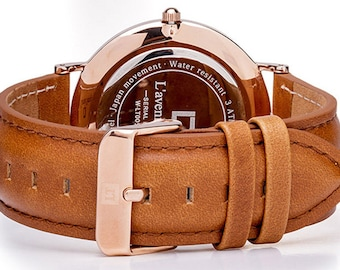 Classic Rose Gold with Light Brown Strap
