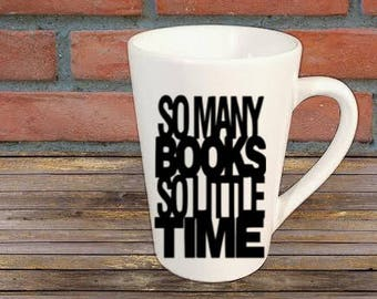 Book Lover Mug Coffee Cup Gift Home Decor Kitchen Bar Gift for Her Him Any Color Personalized Custom Jenuine Crafts