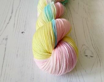 Hand Dyed Sock Yarn// OOAK skein 4ply Sock //