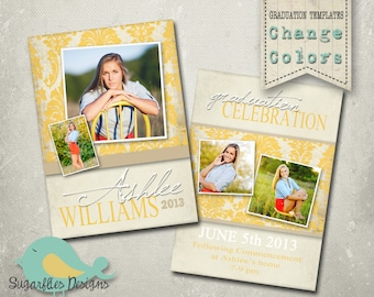 Graduation Announcement PHOTOSHOP TEMPLATE -  Senior Graduation 17