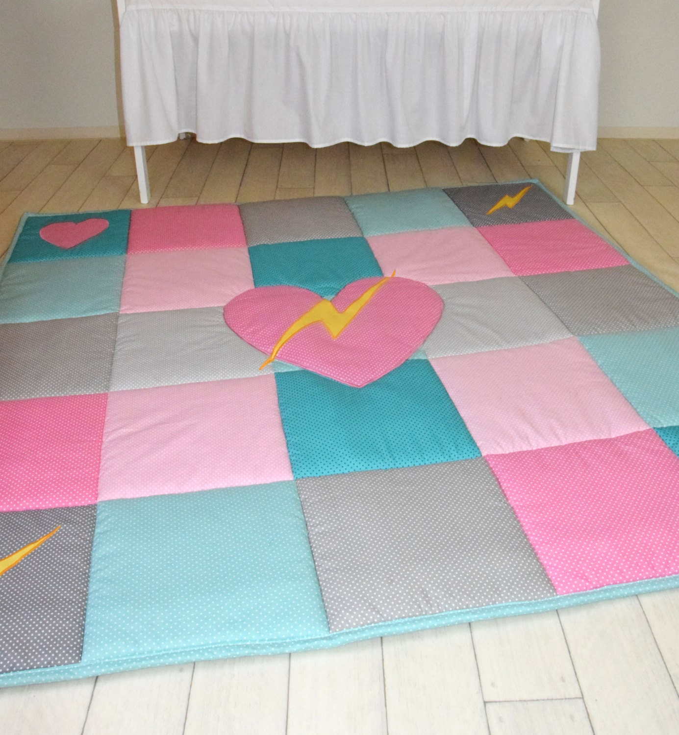 playmat pink gray fullxfull teal heroines female activity girls play il rug superhero listing turquoise mat baby