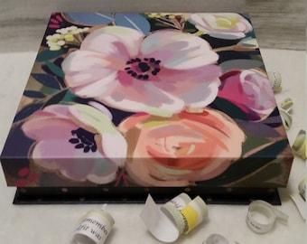 Impressionist Art Flowers & Polka Dots, Teacher Gift, Housewarming, Grammy Gift, Stepmother,Memory Box,RoadSideBoutique Mary Lynn Savko