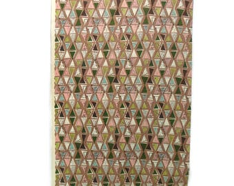 Vintage Barkcloth Drapery Fabric * Waverly 'Semaphore' Upholstery  * Atomic Yardage * Bark Cloth