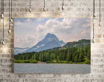 Mountain Forest Lake Canvas Wall Art