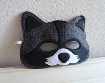 Raccoon Felt Mask
