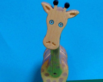 Giraffe Bank Handmade Wooden Bank