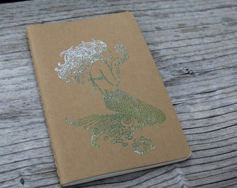 Mini Mermaid Embossed  Journal