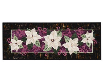 Wildfire Designs Alaska White Poinsettia Too Table Runner Applique Quilt Pattern