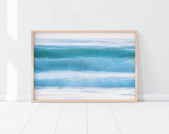 Ocean Print-Ocean Wall Art-Coastal Wall Art-Beach Print-Coastal Print-Blue Water Print-Tropical Print-Printable Art-Ocean Waves Print-Sea