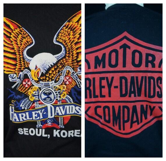 Vng Shirt Sz TShirt Souel Full Harley Xl Vng L Rare Tee Harley MC Eagle Korea Tee Harley 90s Shirt RARE 90s 1990s Very T Korean FIqPwP