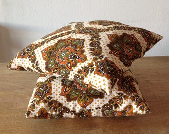 Set of 2 pillows vintage, antique, old fabric, vintage cushions